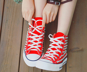 red, shoes, and converse image