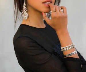 beautiful, black, and bracelets image