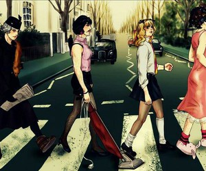 Queen, abbey road, and Freddie Mercury image