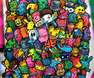 characters, colourful, and fun image