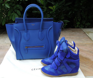 bag, blue, and shoes image