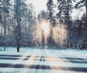 beautiful, light, and snow image