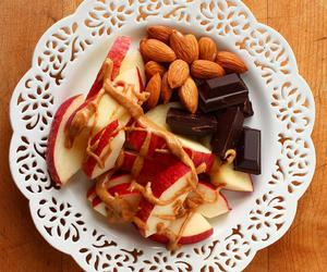 healthy, apple, and almond image