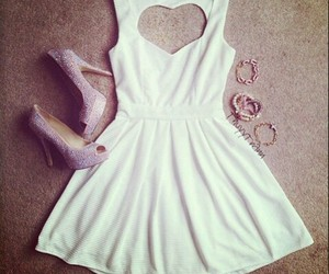 accessories, heart, and dress image