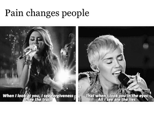 cyrus, pain, and mileycyrus image