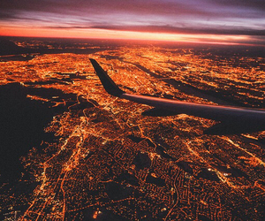 travel, city, and light image