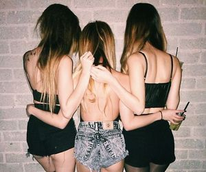 clothes, friendship, and drink image