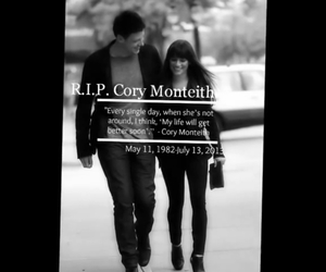 rip, cory monteith, and lea michelle image