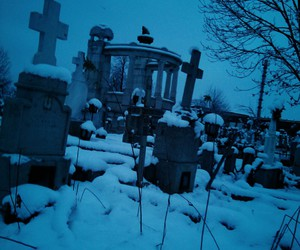 cemetery, glow, and pale image