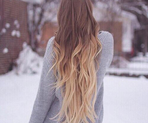 hair, winter, and blonde image