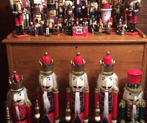 christmas decor and nutcracker decor image