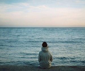 girl, ocean, and water image