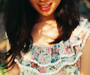 girl, floral, and dress image