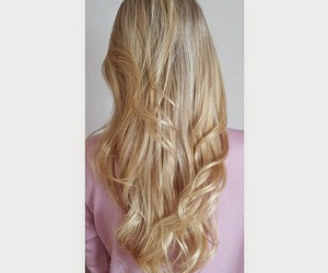 blond hair, blonde, and girl image