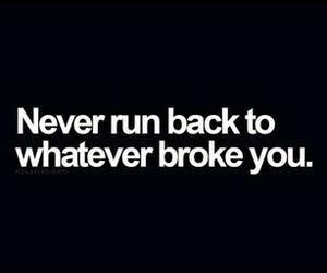 quote, broken, and broke image