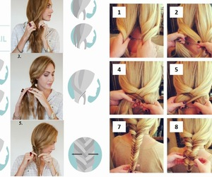 hair, hairstyle tutorial, and hairstyle image