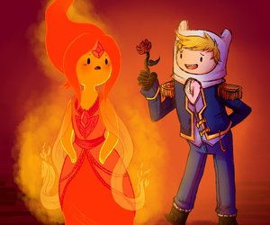 adventure time, flame princess, and finn image