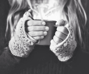winter, coffee, and girl image