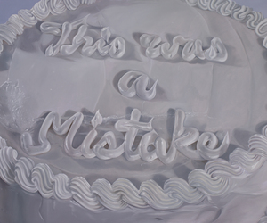 cake, mistakes, and pale image