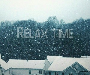 relax, time, and snow image