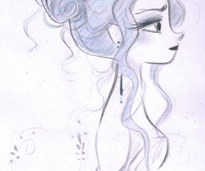 drawing, disney, and princess image