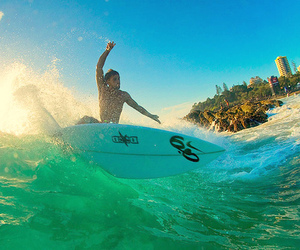 surf, ocean, and summer image
