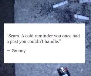 scars, sad, and past image
