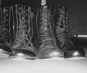 alternative, combat boots, and flower child image