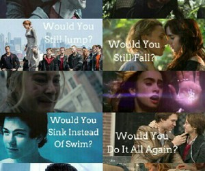 harry potter, the mortal instruments, and the hunger games image