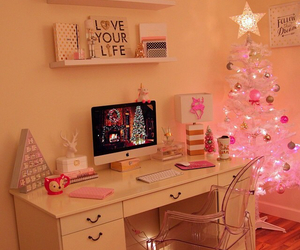 decoration, pink, and room image