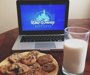 disney, milk, and Cookies image