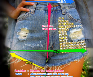 fashion, guide, and high waisted shorts image