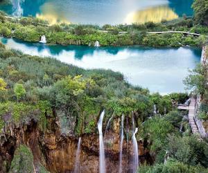 nature, Croatia, and waterfall image
