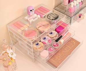 makeup, girls, and storage image