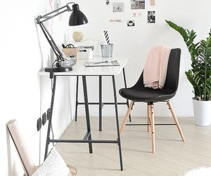 home, desk, and decor image