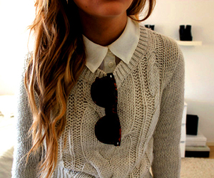 button up shirt, fashion, and girl image