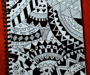 art, black&white, and draw image