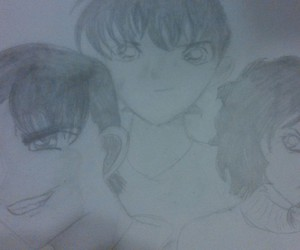 drawing, heiji, and fanart image