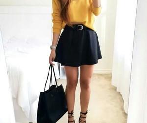 fashion, black, and skirt image