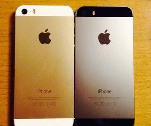 gold, iphone, and 5s image