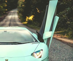 car, Lamborghini, and blue image
