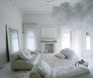 bed room, white, and living room image