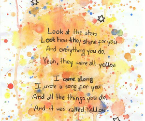 coldplay, yellow, and song image