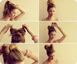 bow, diy, and hair image