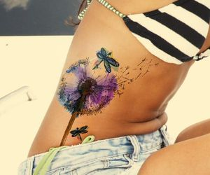 beautiful, butterfly, and dandelion image