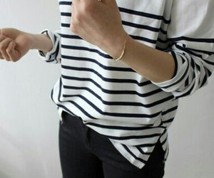 fashion, stripes, and black image