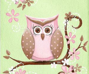 owl, vintage, and love image