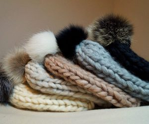 hat, knit, and cute image