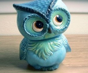 owl, cute, and blue image