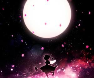 anime, manga, and moon image